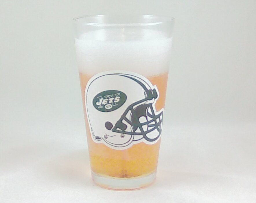 NY Jets Beer Gel Candle