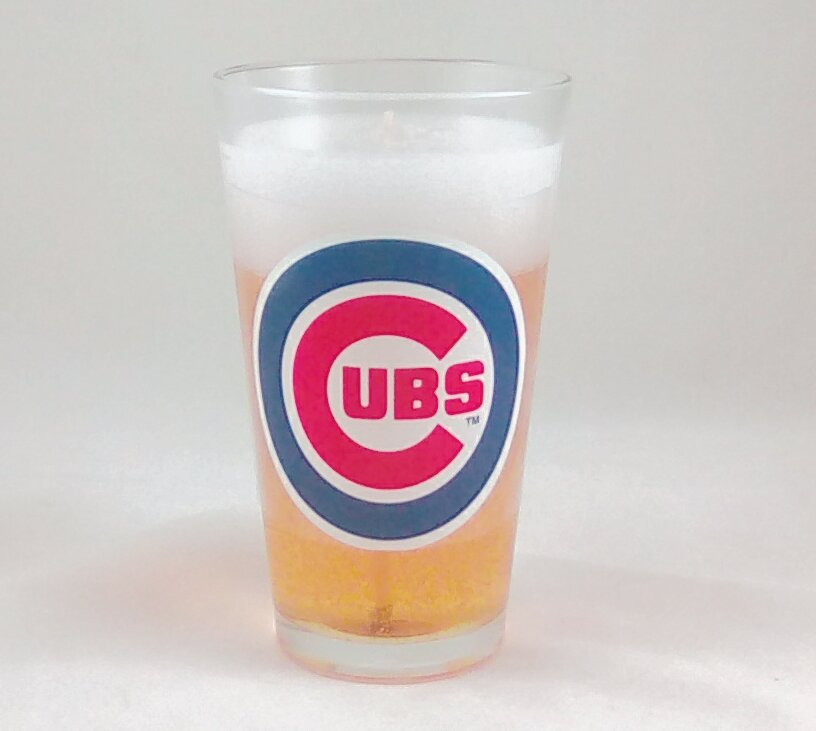 Chicago Cubs Beer Gel Candle