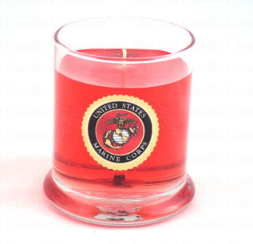 United States Marines Corps Gel Candle Deco Jar - scented