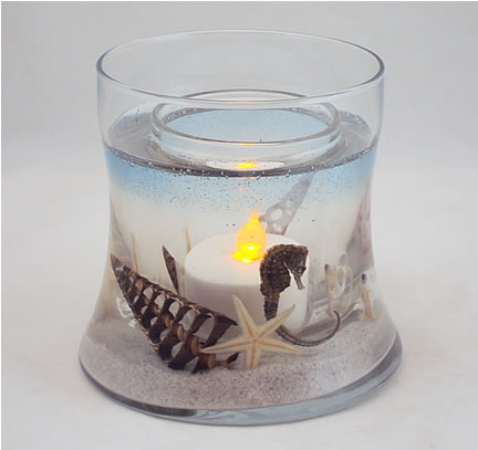 Seahorse Hourglass Refillable Forever Candle Design
