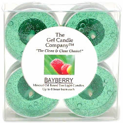 Bayberry Scented Gel Candle Tea Lights - 4 pk.